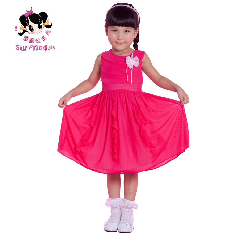 害羞公主女童春夏背心款连衣裙儿童连身裙子 SH219A
