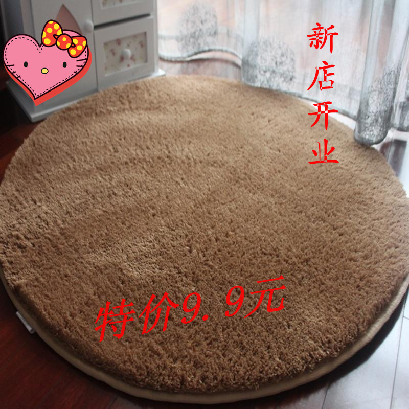 纯色时尚圆形丝毛电脑椅垫瑜伽垫 圆形家居地毯