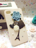 Apple iphone44S retro diamond paste decals stick drill cellphone shell drill shell Tower