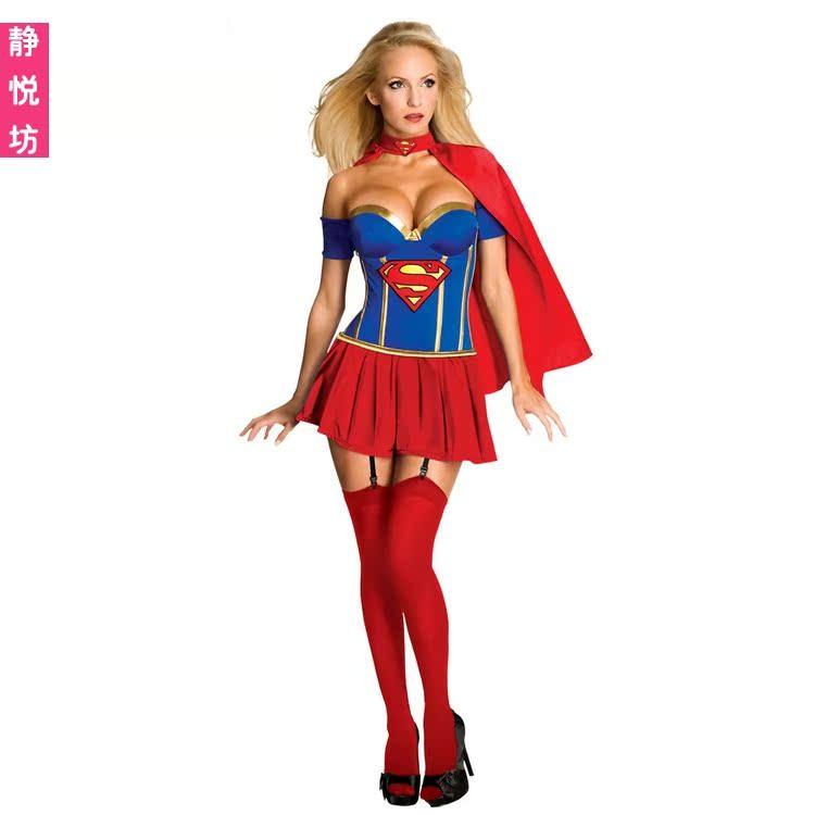圣诞装女超人角色扮演万圣节服装制服派对夜店场演出服装COSPLAY