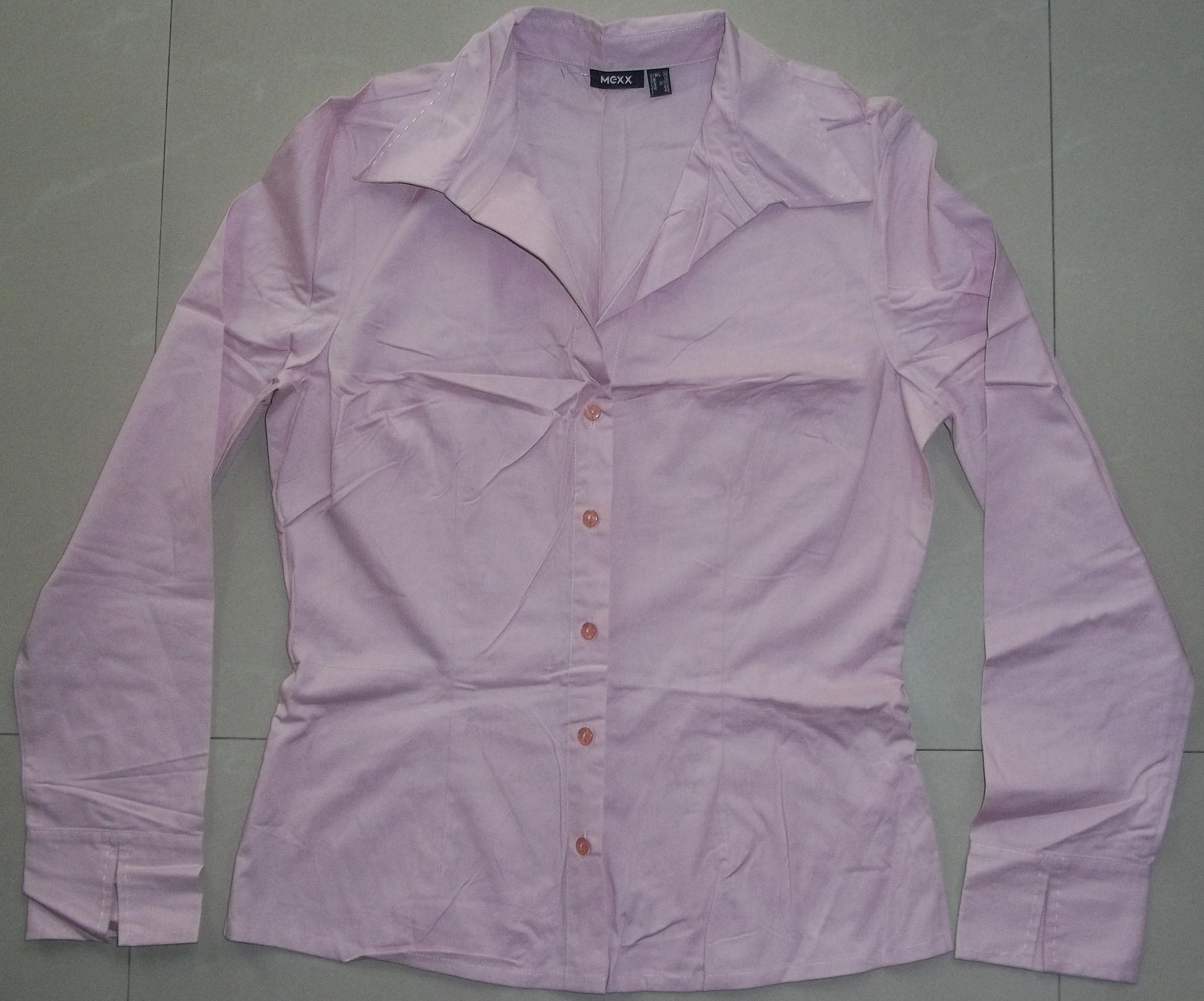женская рубашка Mexx 100_1702 38 Городской стиль Длинный рукав Однотонный цвет