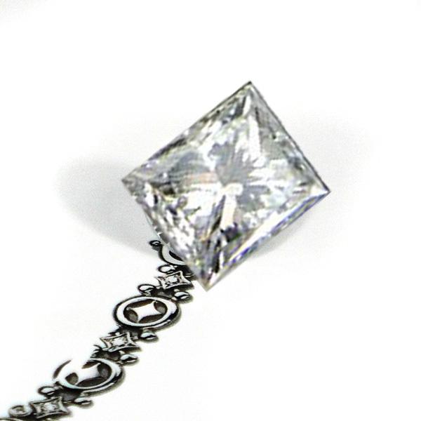 精品裸钻 公主方钻石 0.76克拉 VS2/H色 S210208482