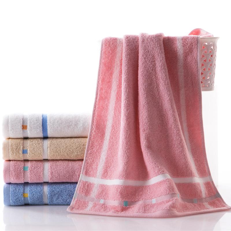 金号 纯棉毛巾4条装 提花清新亮丽面巾柔软舒适 专柜正品包邮
