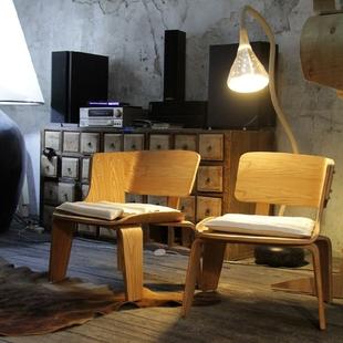 曲木原木色对椅