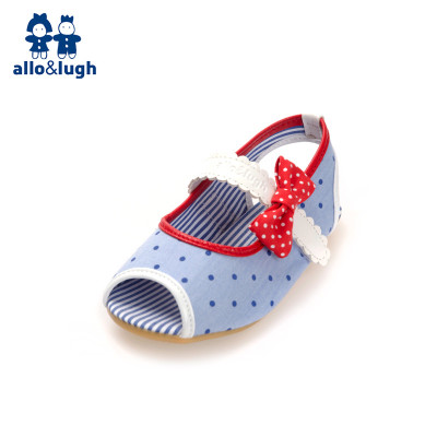 allo & amp; lugh A road and as Korea summer new girls sandals children Velcro blue shoes fish head