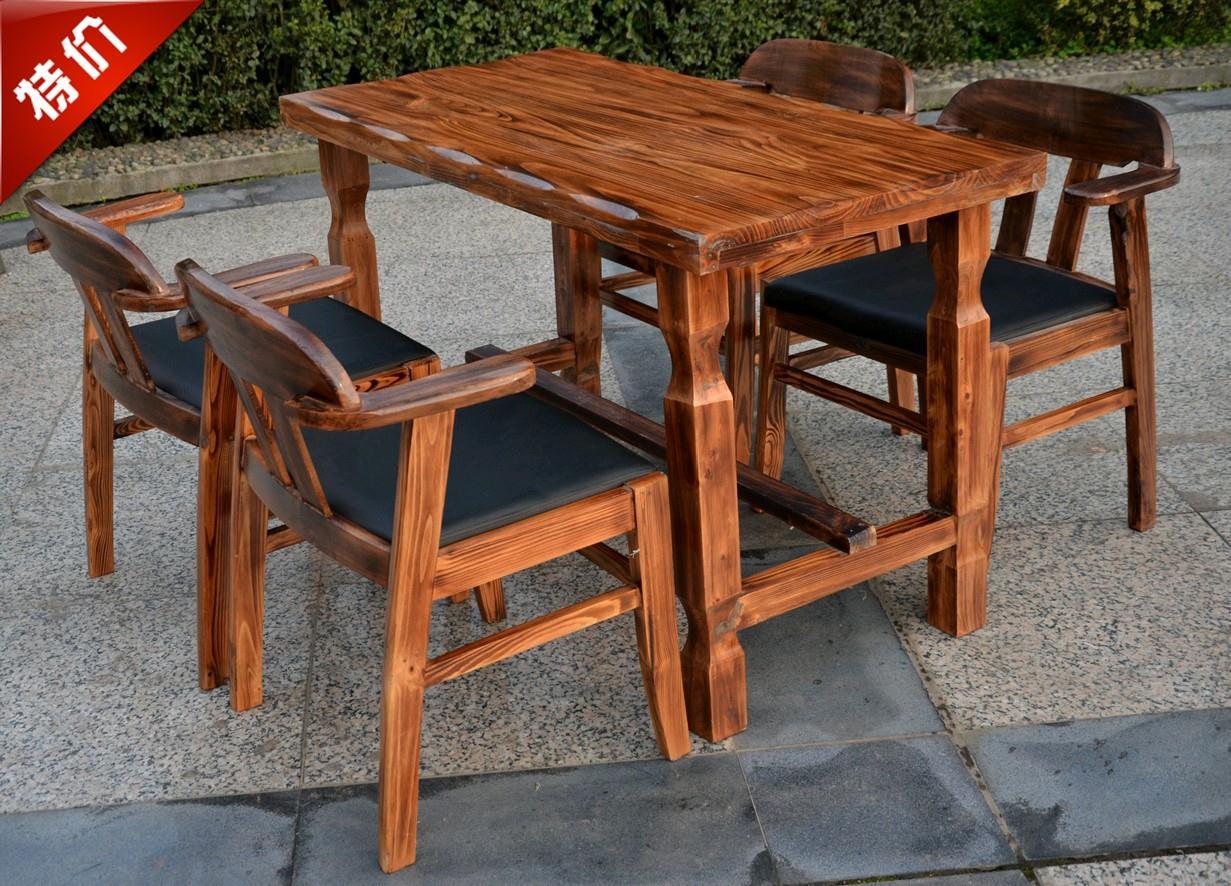 Длинный деревянный стол для застолья своими руками 7