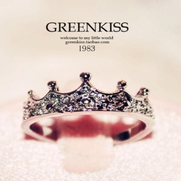 925 стерлингового серебра моды новые микро инкрустация дамы Корона Корона бриллиантовое кольцо, продажа почтовых комбинации колец
