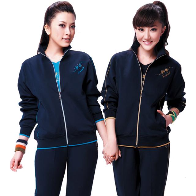 Спортивный костюм KXL * Женские Длинные рукава (рукава ≧ 58см) Отложной воротник Брюки ( длинные ) Для спорта и отдыха Рисунок