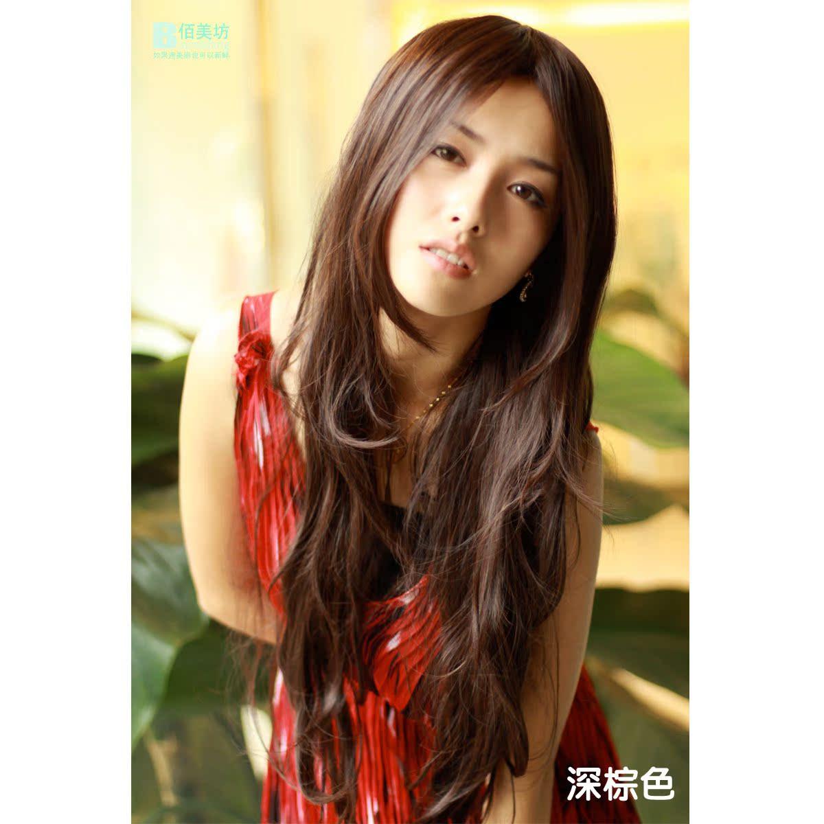 佰美坊假发 长 卷蓬松长卷发假发 女 非主流长发中分刘海长发图片