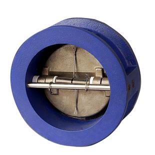 冲钻特价hd76x-16铸铁对夹式止回阀蝶式止回阀蝶形单向阀铸铁阀门图片