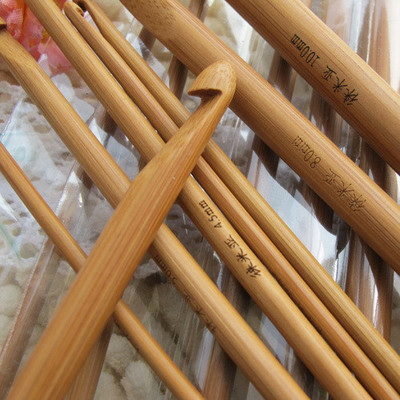 Lai Mia charring Afghan Crochet crochet knitting needle length 36cm bamboo magic dual special offer