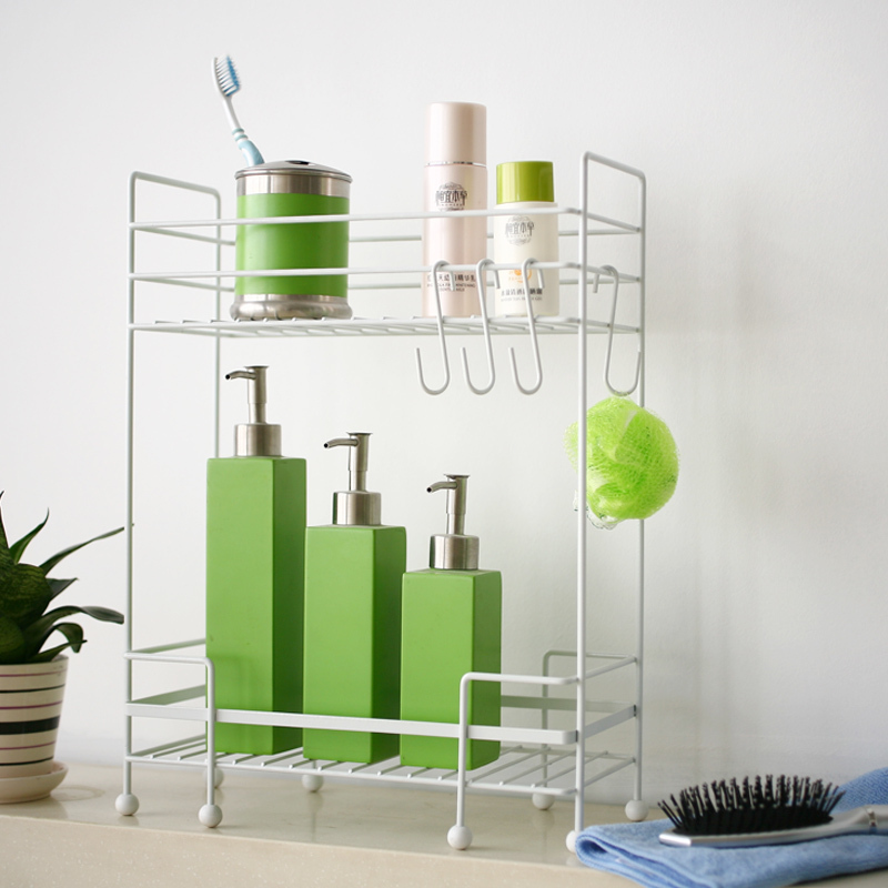 潮土创意居家时尚厨房两层置物架 浴室置物架 8省包邮