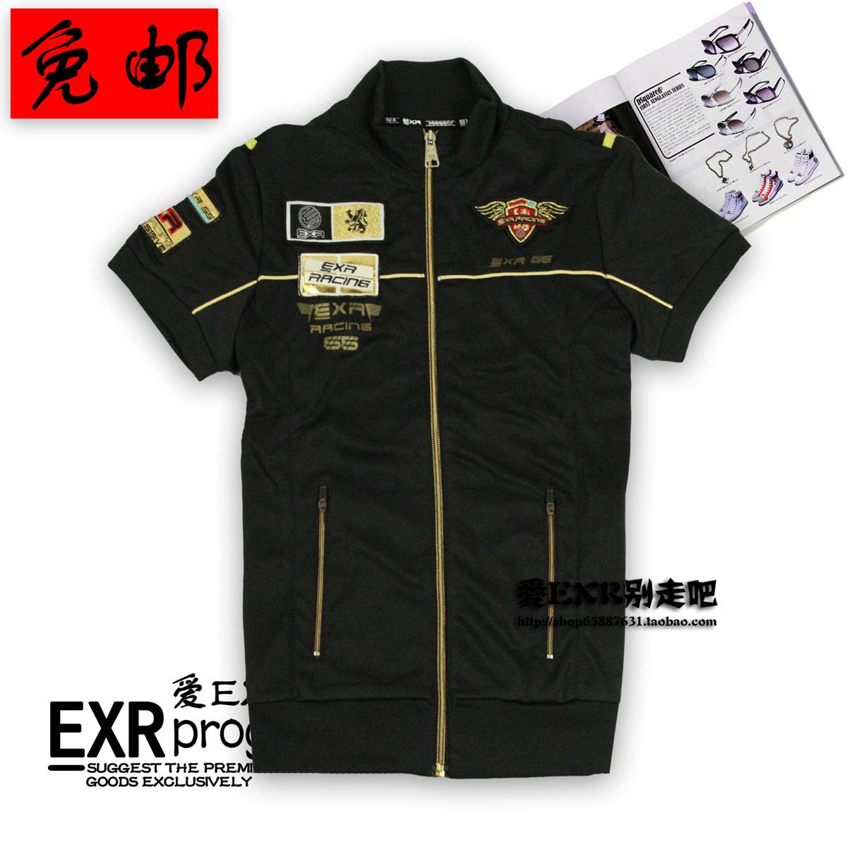 Спортивная футболка EXR 171 Стандартный Воротник-стойка Полиэстер Спорт и отдых Воздухопроницаемые, Защита от UV, Ультралегкий, Быстросохнущие, Влагопоглощающая функция Дизайн, С надписями, С логотипом бренда