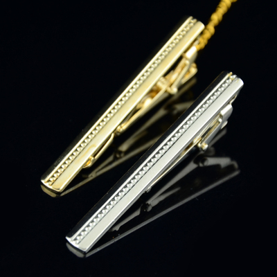 High-end men's business dress shirt fashion casual texture of silver metal tie clip simple atmospheric textures