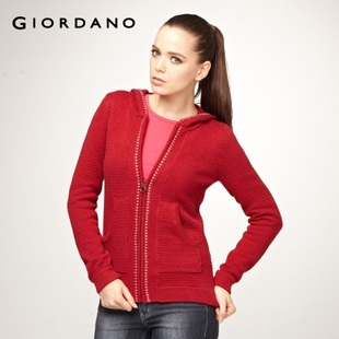 2012 new Giordano knit shirts-dress Flash Opening, placket, open front, Cardigan front cotton knitwear jackets 01351540