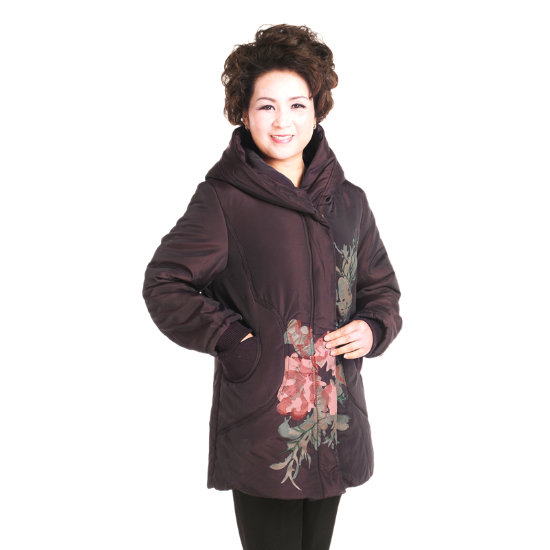 2013新款中老年棉衣中年妈妈装棉袄老年人女装冬装棉衣加厚外套女图片