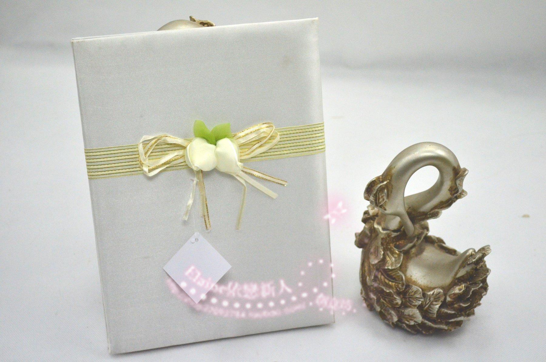 婚庆婚礼用品 嘉宾签名签到 欧式 签到本/签到簿/签到册 白玫瑰
