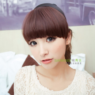 High temperature wire black hair fringe girls hoops-Qi Liuhai wig fringe-fringe knife special offer