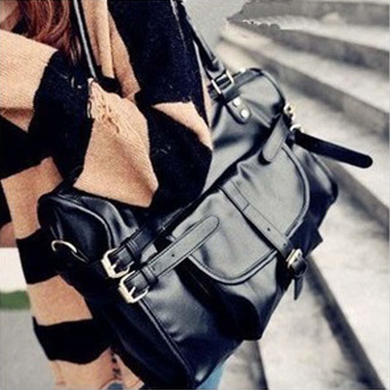 Сумка Европейская звезда кошка мешок диких большой черный мешок почты Англии ретро сумка сумки сумка M03-018 Девушки Сумка через плечо Однотонный цвет Искусственная кожа