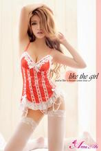 Package mail Taiwan high-end ice silk white lace sexy lingerie red ma3 jia3 garters net leg warmers