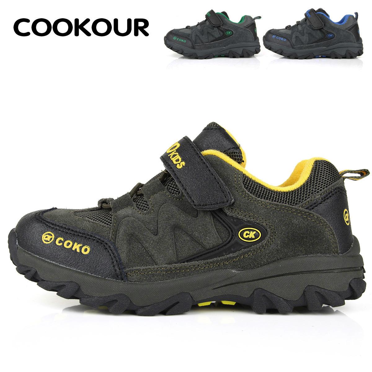 детские кроссовки Cookour ck28 Для молодых мужчин Зима Верхний слой из воловьей кожи Универсальная обувь