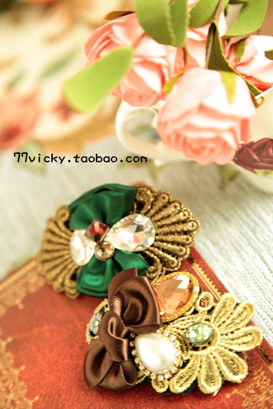 Заколки «69 сумки почты» Южная Корея импортированных кристалл старинные кружева лук горный хрусталь шпилька Аксессуары для волос