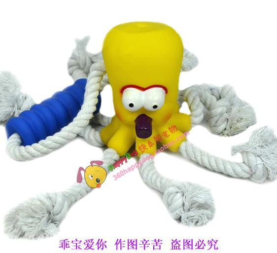 Tug of war Limited Edition 8 leg octopuses chew toy cotton rope chew toy pet toys, dog toys knot toys