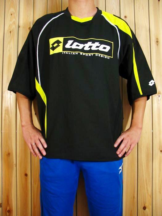 Спортивная футболка Lotto lsw0261s Свободный Воротник-стойка Короткие рукава ( ≧35cm ) CVC Футбол Влагопоглощающие Логотип бренда