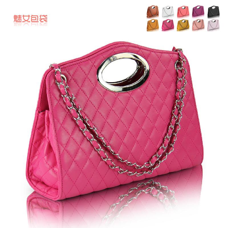 Сумка Other brands 8132 2013 Девушки Женская сумка Однотонный цвет Искусственная кожа