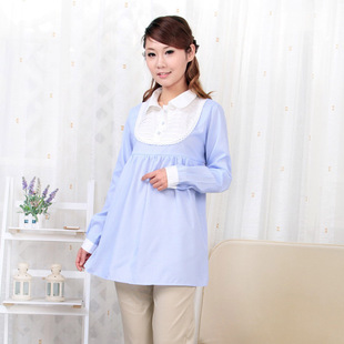 Add your son spring summer maternity dresses Princess led strips  women shirts long sleeves shirt in pregnant women 118