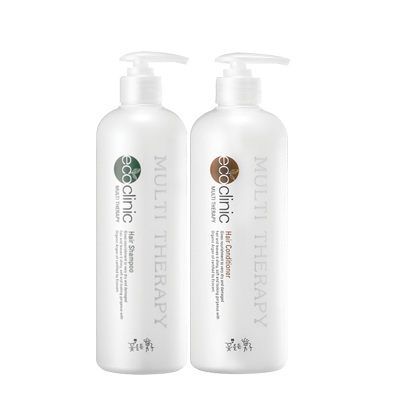 South Korea imports authentic look of the plant silk shampoo 500ml + 500ml Natural Hair Conditioner