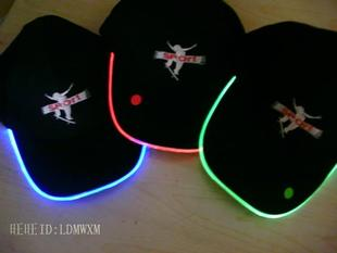 LED light hat. LED hat. LED fiber light hat. shining Cap