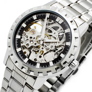 Automatic mechanical  hollowed watches  men watches