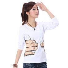 2014秋季打底常规款圆领上衣纯棉大码通勤女装女士学生T恤