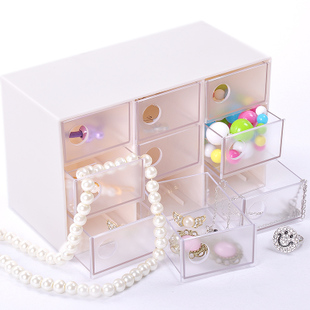Three Crown nine-drawer jewellery storage box jewelry box 380g