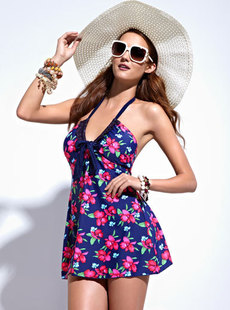 Dream Basha swimsuit 2012 new tropical-style Siamese dress swimsuit 013112209