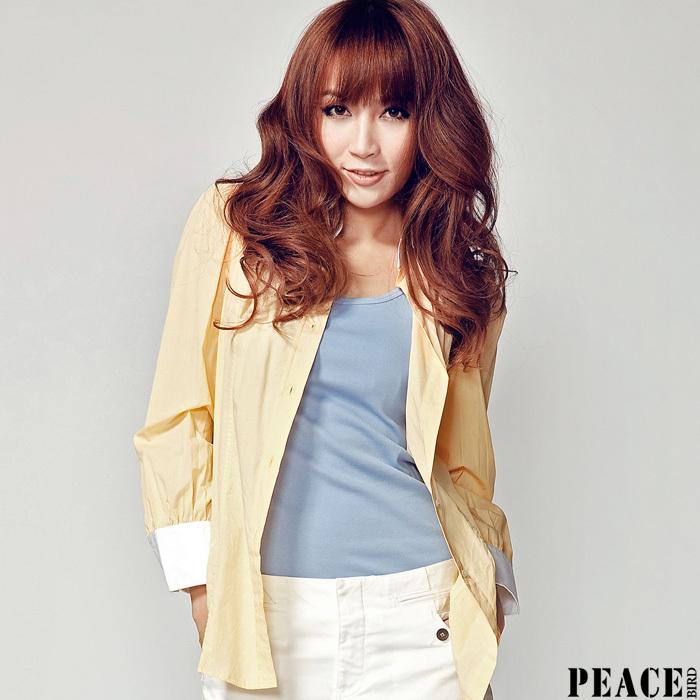 женская рубашка PEACEBIRD aj1010238 200 100 COLLECTION Повседневный Длинный рукав В клетку