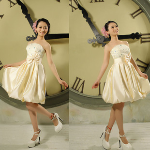 2012 new style bridesmaid clothing dress lovely dress little dress Korean Delta short bridesmaid dress evening dress