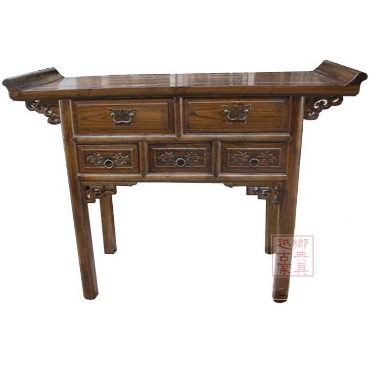 Подставка Пяти таблицы/алтарь античной Будда ниши для Тайвань для таблицы кабинет Ming Элм древесины классическая мебель специальные