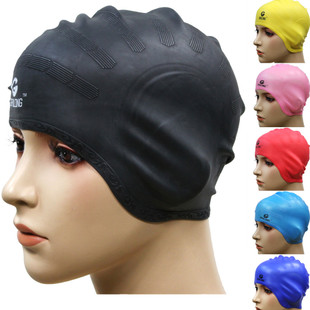 Men and women and children's silicone swimming cap