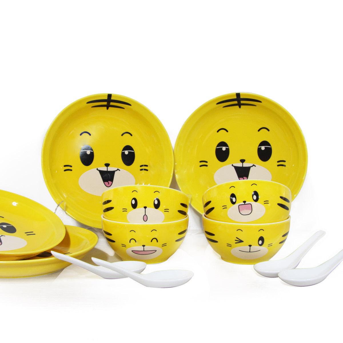 日日和 厨房用具餐饮用品骨瓷餐具套装瓷器餐具陶瓷餐具 12头