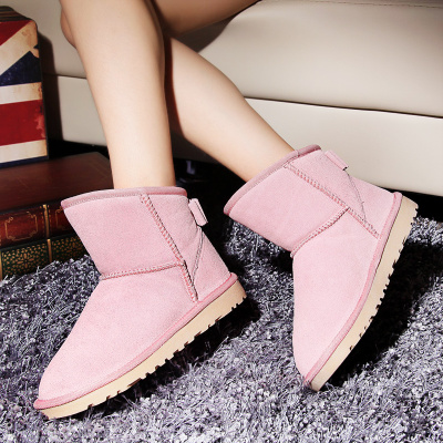 What A new autumn and winter 2013 women's wild OL sweet bow heavy-bottomed leather snow boots warm women