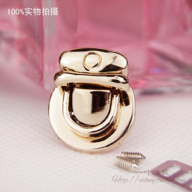 фурнитура DIY ┆ рука сумка сумки кошелек с 1 дюйм вставка кнопка блокировки/Pack Бао Suokou светло-золотой