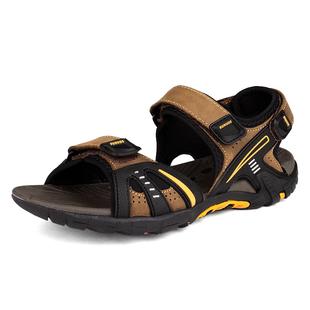 凉鞋 男式真皮时尚潮流欧美沙滩鞋男凉鞋男款真皮正品男士凉鞋 男