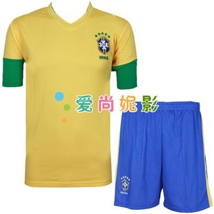 12-13 Brazil national team football football football clothes clothing competition clothing short sleeve sports children's ball clothing
