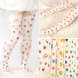 Spring and summer Korean pastoral style velvet tights for children played DIKU summer girls tights and socks