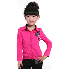 the girls shirt long-sleeved korean version of the 2012 new spring and autumn older children children shirt slim naropa rabbit genuine
