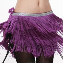 New specials tribal belly dance waist chain sling chain waist wind wipes Latin dance three layer encryption tassel hip towel bag mail