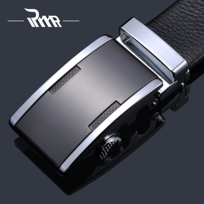 RYYR men's leather belt belt Korean version of the genuine product automatic discount cowhide belt tide Business