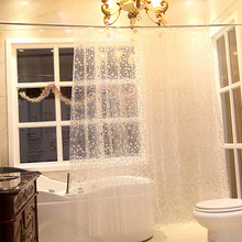 Foreign trade new toilet 3 d more translucent fabric waterproof bathroom shower curtain No mail